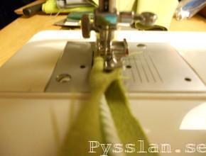 Kuddfodral kantband symaskinsfot