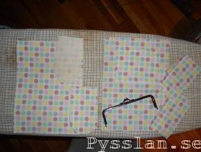 pastellprickig handväska alla delar pysslan