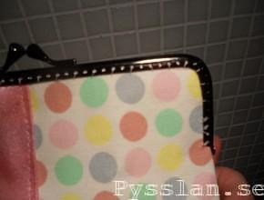pastellprickig handväska söm pysslan