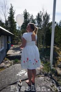 Målad klänning bakifrå pysslan blogg