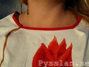 röd sommarklänning 50-talsmodell pysslan blogg