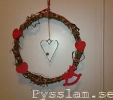 Pysselkaos julkrans band hampa hjärtan pepparkaksformar pysslan blogg