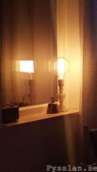 renovera marmor alabaster lampfot loppisfynd slipa glödtrådslampa fönster pysslan blogg