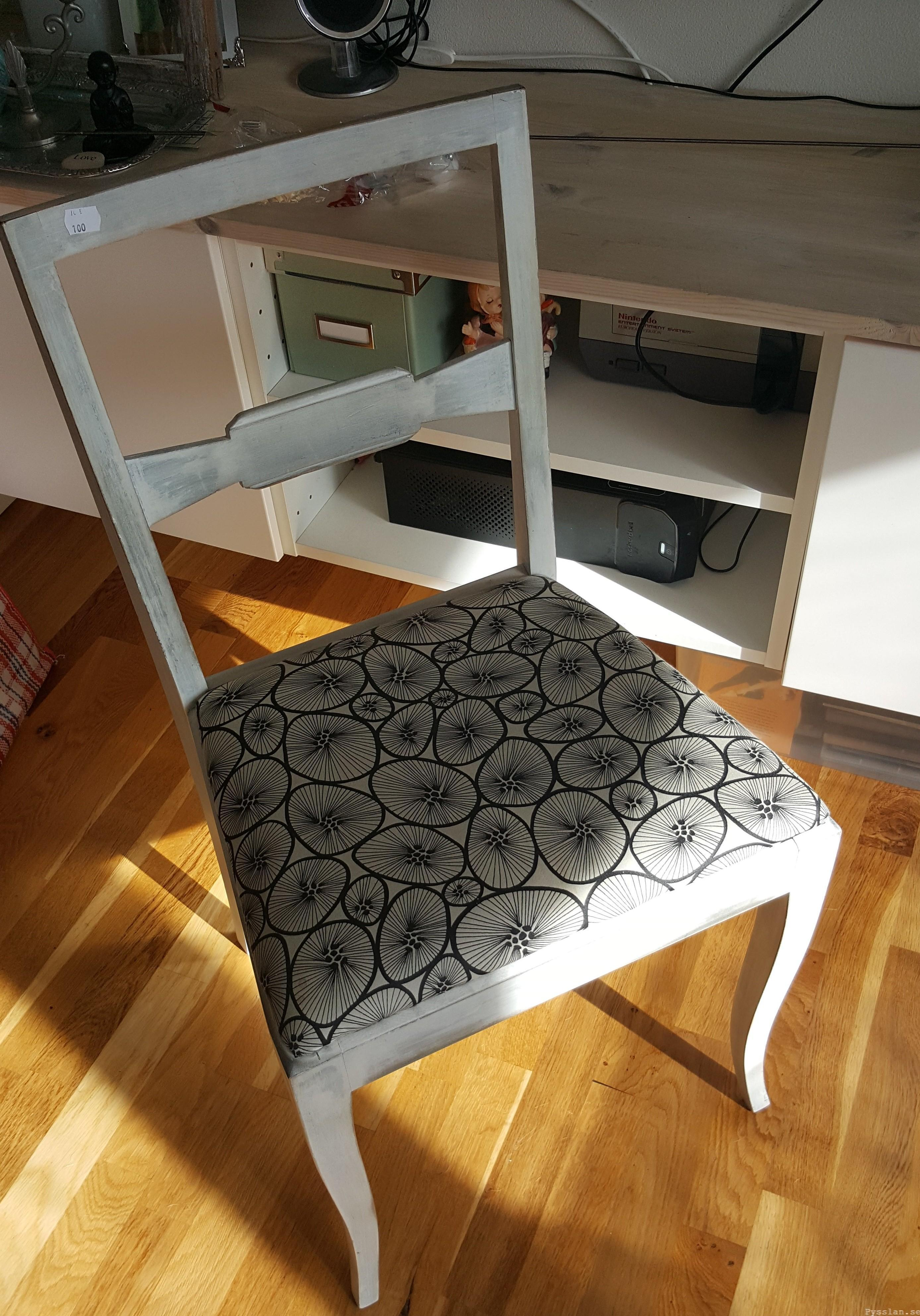 Snabb snygg enkel billig omklädnad av loppis stol pysslan blogg innan