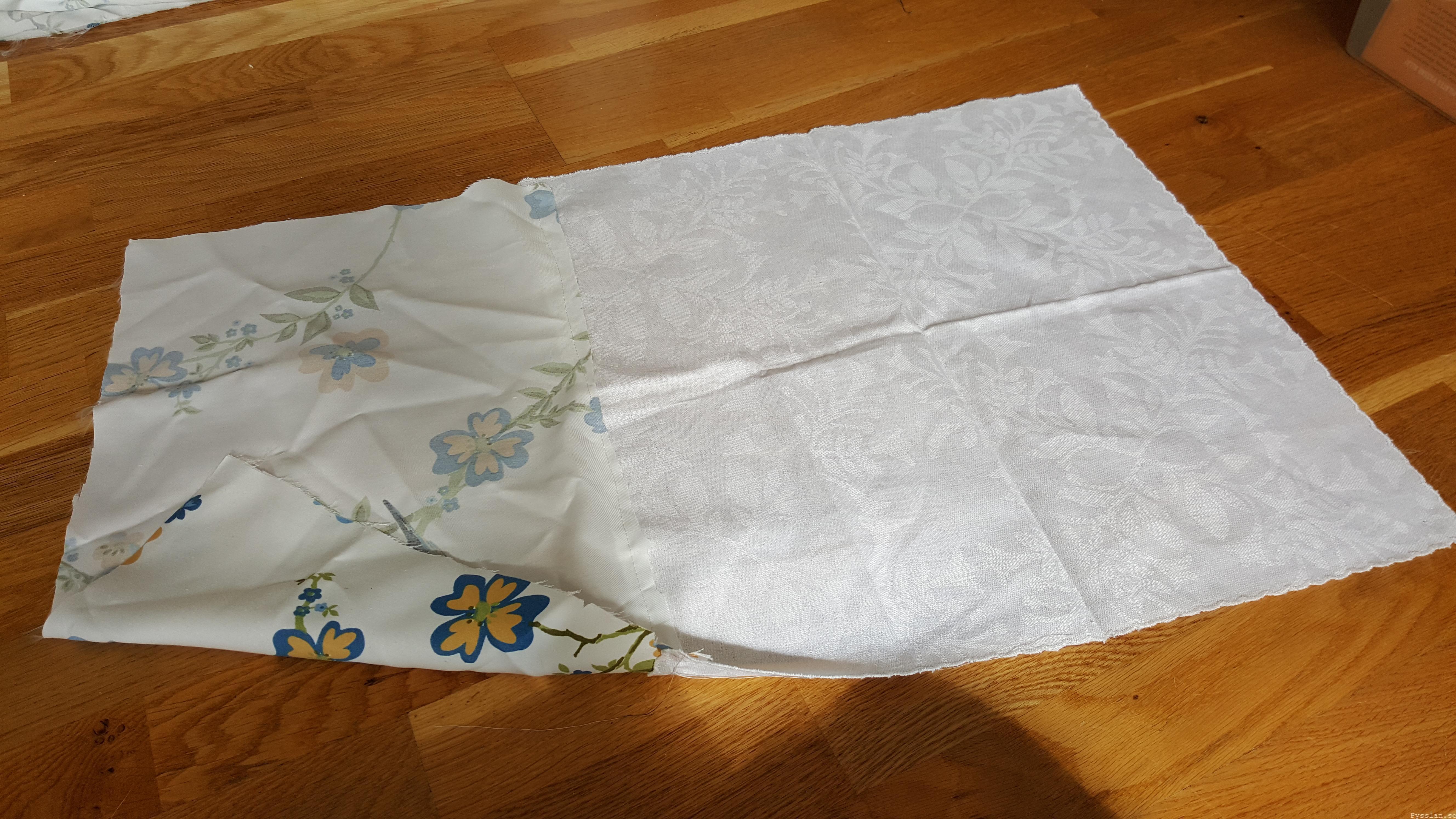 Romantiska kuddfodral av loppisfynd handduk duk pysslan blogg sy