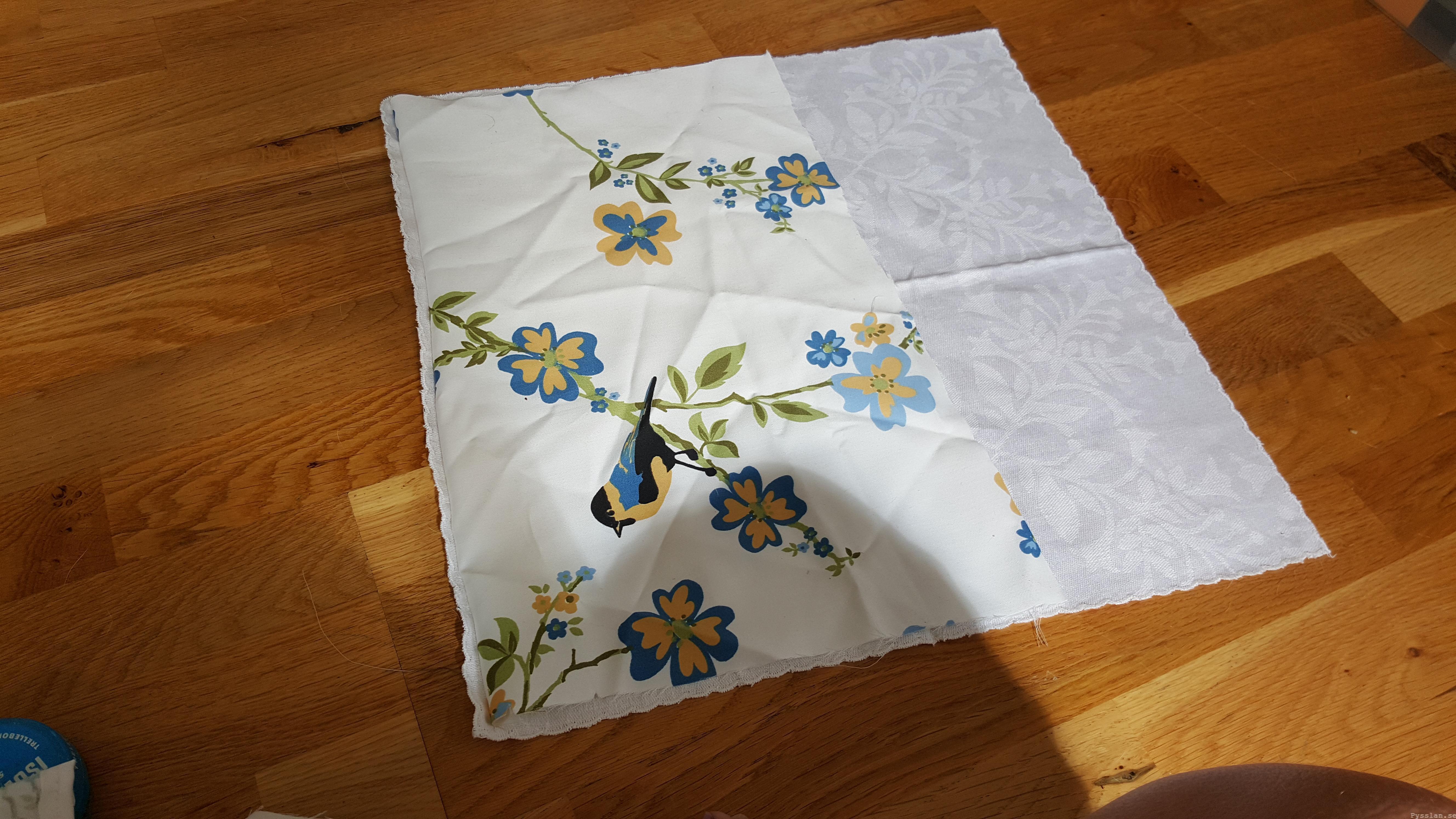 Romantiska kuddfodral av loppisfynd handduk duk pysslan blogg sy 2