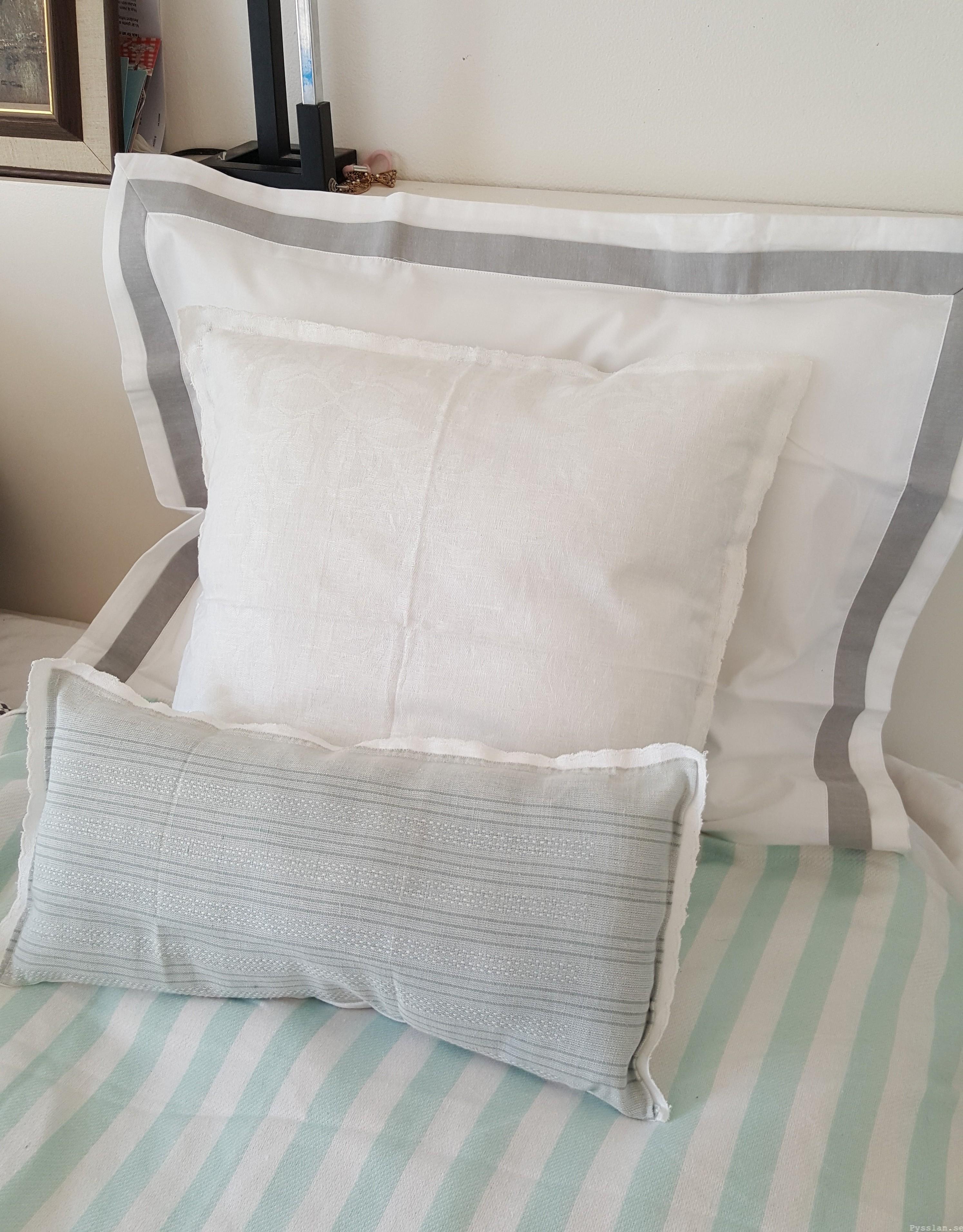 Romantiska kuddfodral av loppisfynd handduk duk pysslan blogg sy efter enkelt