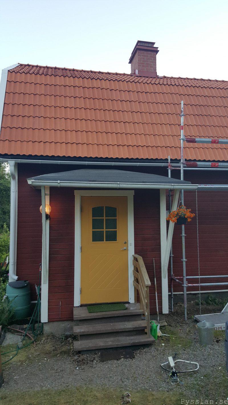 Ny skorsten platt hatt pysslan blogg 20-talsdröm 20-talshus villasmultronbacken