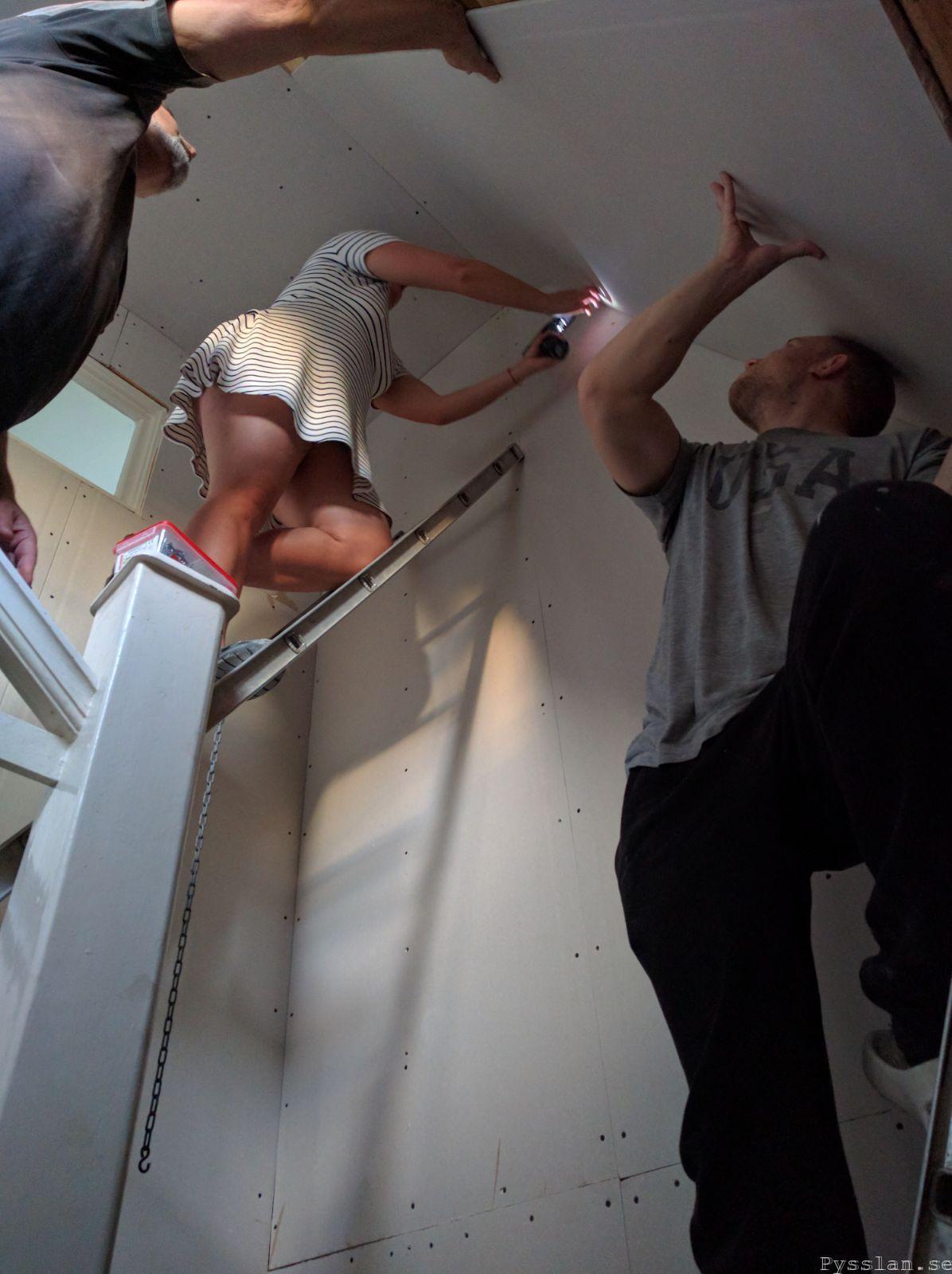 sätta gips 20tals dröm hus gips i trapp pysslan blogg